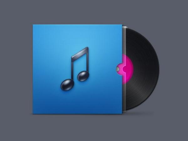 Music CD psd icon