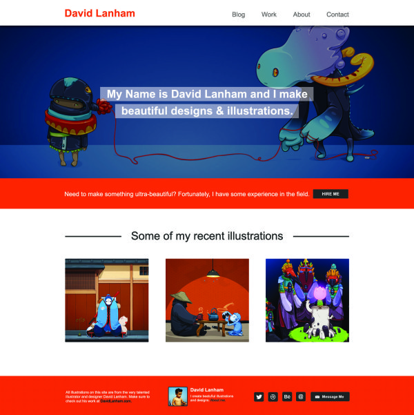 cartoon style website template psd free download