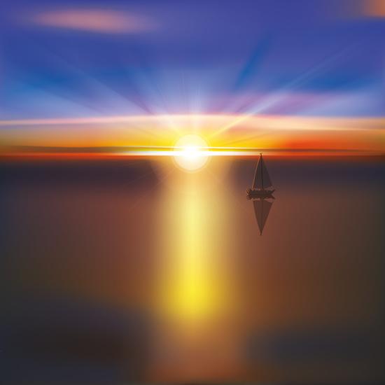 Beautiful sunset scenery vector 04