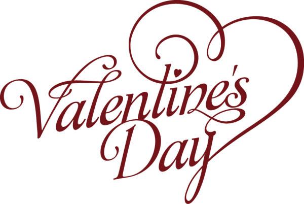valentine day art text design vector - Happy Valentines Day Text