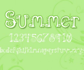 Plant Cartoon Fonts