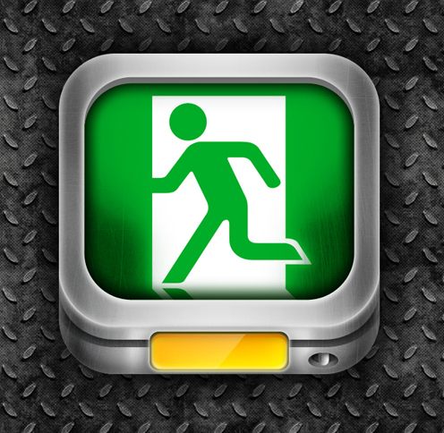Safe exit icons psd