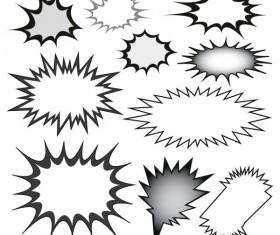 Cartoon explosion frames vector set 01