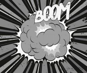 Cartoon explosion frames vector set 02