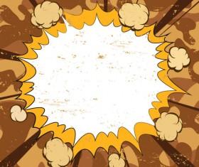 Cartoon explosion frames vector set 03
