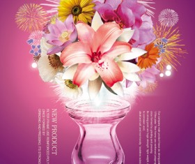 Flower and jardiniere psd
