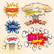 Link toCartoon explosion frames vector set 09
