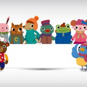 Link toCute animal with billboard vector