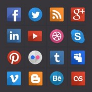 Link toDifferent media icons vector
