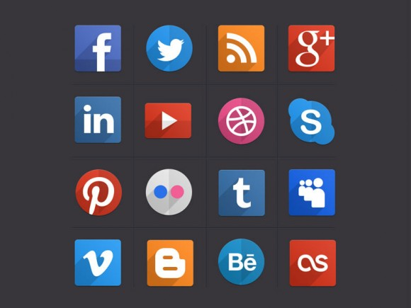Different Media icons vector