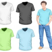 Link toClothes template design vector 01