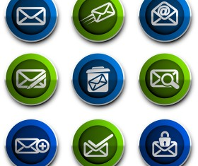 Email style icons vector 02