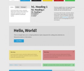 Commonly web psd template