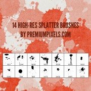 14 kind high-res splatter brushes