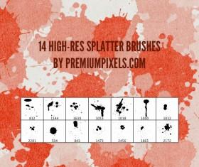14 Kind High-res splatter brushes