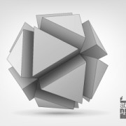 Link to3d geometrical shapes design vector 01