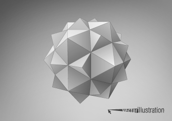 3d geometrical shapes design vector 05 over millions