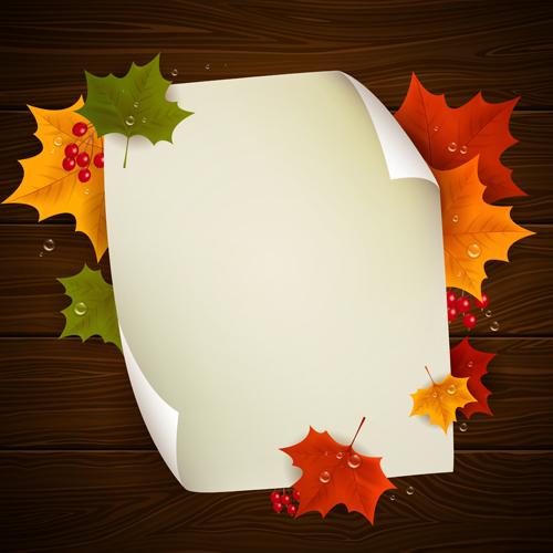 Autumn Harvest backgrounds vector 02
