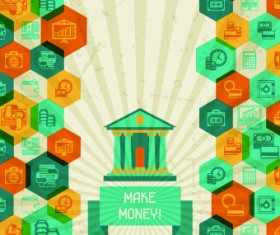 Vintage Banking and finance design vector 01