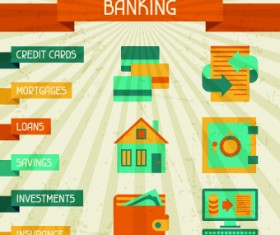 Vintage Banking and finance design vector 02
