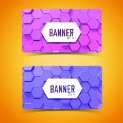 Link toBoneycomb banner vector 03
