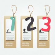 Link toCreative banners with numbers vector 01