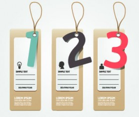 Creative Banners with numbers vector 01