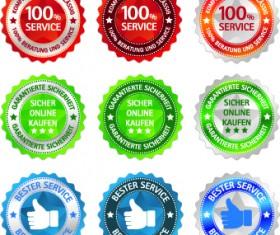 Best Sticker label vector 03