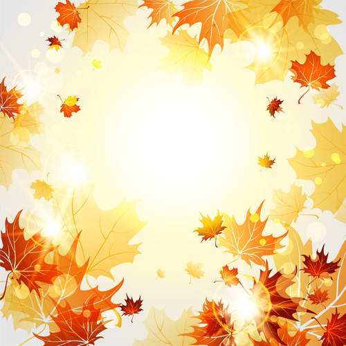 Fall Wallpaper Images Free: Bright Autumn Leaves Vector Backgrounds 06 Free Download