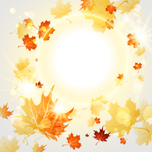 bright autumn leaves vector backgrounds 09 vector