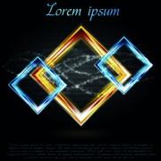 Link toBright shapes vector background 03