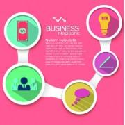 Link toBusiness infographic creative design 296