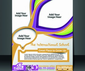 Business flyer and brochure cover design vector 86