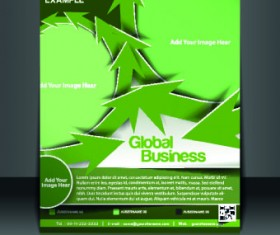 Business flyer and brochure cover design vector 88