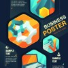 Stylish Business poster cover vector 04