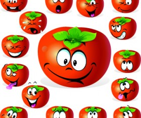 Cartoon Funny Fruit vector 01