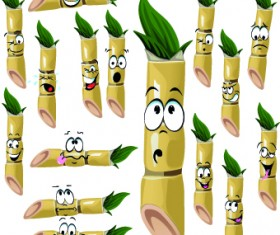 Cartoon Funny Fruit vector 05