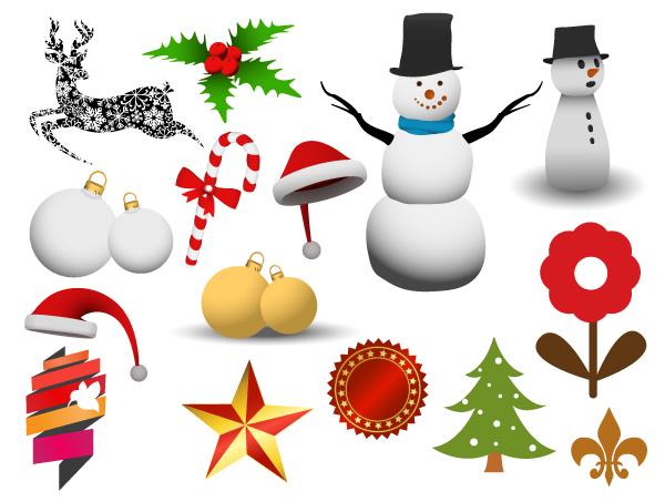 Christmas adornment vector design 01