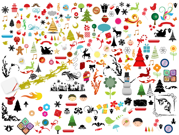 Christmas Vector Free Download.Christmas Adornment Vector Design 02 Free Download