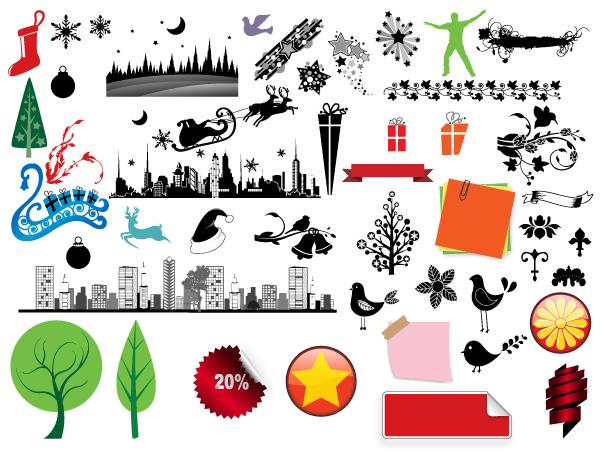 Christmas adornment vector design 03