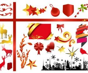 Christmas adornment vector design 04