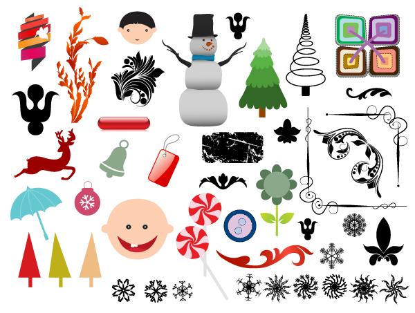 Christmas adornment vector design 05
