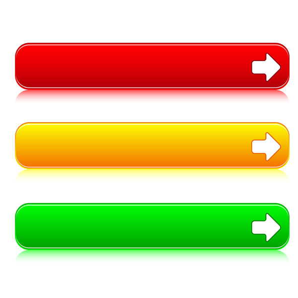 Color Web Buttons vector 02 - Vector Web design free download