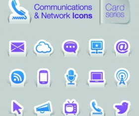 Communications and Network icons vector