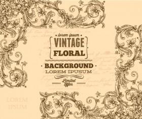 Elegant Vintage background set 01