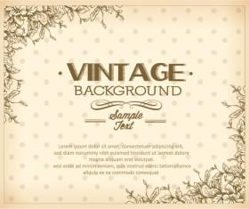 Elegant Vintage background set 06
