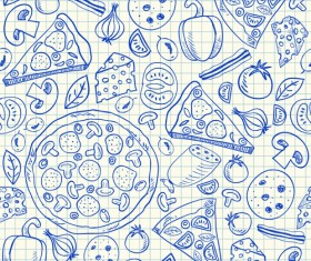 Hand Drawn Fast food elements 01