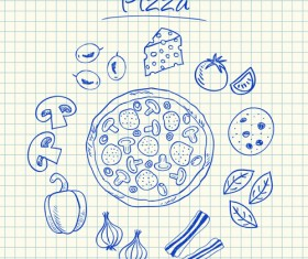 Hand Drawn Fast food elements 04
