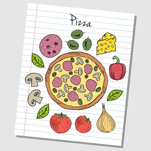 Hand Drawn Fast food elements 05