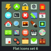 Link toDifferent flat icons vector set 02